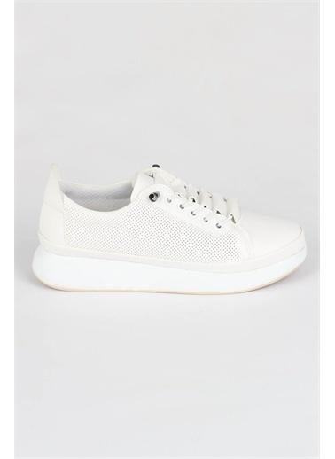 Modabuymus Modabuymus Kadın  Sneaker Hafif Spor Ayakkabı - Sugar Beyaz